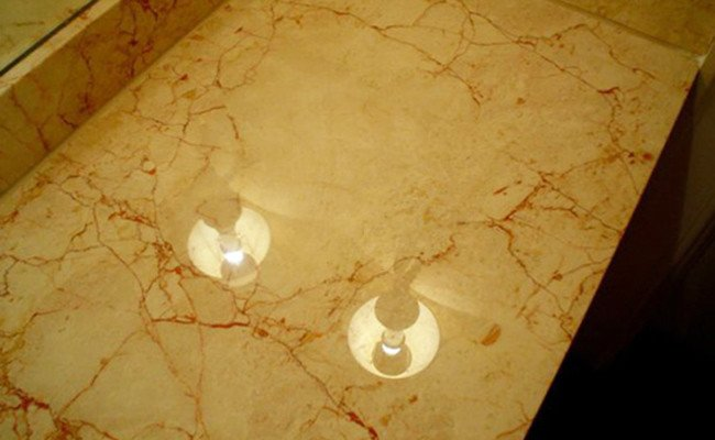 Damaged Marble Vanity Top Restored